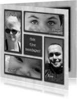 Kerstkaarten - Kerstkaart 4x foto krijtbord RB