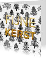 Zakelijke kerstkaarten - Kerstkaart bomen patroon