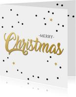 Zakelijke kerstkaarten - Kerstkaart christmas goud  - HE