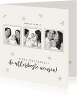 Kerstkaarten - Kerstkaart collage 2018 sterren