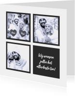 Kerstkaarten - Kerstkaart collage strik 2018 RB