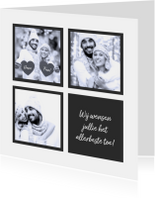 Kerstkaarten - Kerstkaart collage strik 2019 RB