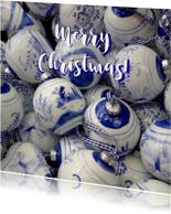 Kerstkaarten - Kerstkaart delftse kerstballen