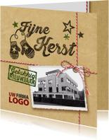 Zakelijke kerstkaarten - kerstkaart foto groen pakket kado