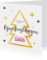 Zakelijke kerstkaarten - Kerstkaart gouden kerstboom logo