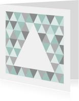 Zakelijke kerstkaarten - Kerstkaart grafisch grijs & mint