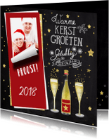 Kerstkaarten - Kerstkaart handlettering wijn