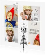 Kerstkaarten - Kerstkaart Illustratie kerst boom