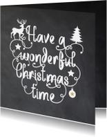 Zakelijke kerstkaarten - Kerstkaart - krijtbord sier