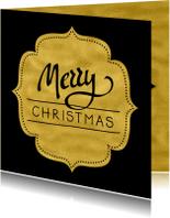 Zakelijke kerstkaarten - Kerstkaart label goudkleur - SG