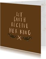 Kerstkaart  Let earth