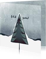 Kerstkaarten - Kerstkaart let it snow-IP