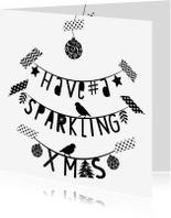 Kerstkaarten - Kerstkaart letterslinger hsx - B