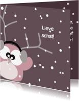 Kerstkaarten - kerstkaart lief vriendin sneeuw