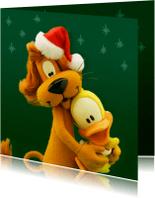 Kerstkaarten - Kerstkaart liefs van Loeki en Guusje - A