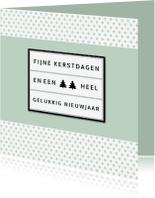 Kerstkaarten - Kerstkaart lightbox groen - BC