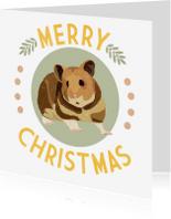 Kerstkaarten - Kerstkaart Merry Hamster - EG