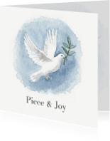 Kerstkaart met een vredesduif illustratie