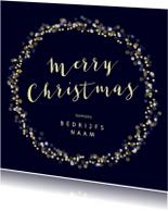 Zakelijke kerstkaarten - Kerstkaart met gouden krans - SU