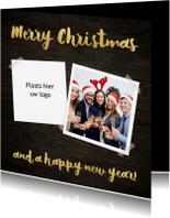 Zakelijke kerstkaarten - Kerstkaart met logo en foto - SU