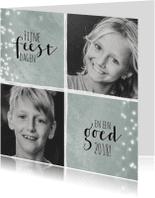 Kerstkaarten - Kerstkaart met twee foto's