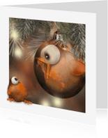 Kerstkaarten - Kerstkaart met vogeltje