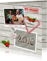 Kerstkaarten - Kerstkaart nieuwjaar wens 2018