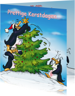 Kerstkaarten - Kerstkaart Penguins  Boom - RN