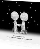 Zakelijke kerstkaarten - Kerstkaart relaties zwart-wit