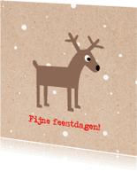 Kerstkaarten - Kerstkaart_Rendier_Sneeuw_SK