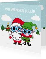 Kerstkaarten - Kerstkaart - samen - MG