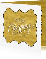 Kerstkaarten - Kerstkaart schild glam - SG