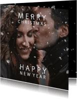 Kerstkaarten - Kerstkaart sneeuweffect over je foto