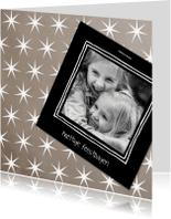 Kerstkaarten - Kerstkaart sterren met foto-IP