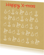Kerstkaarten - Kerstkaart tekening