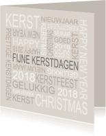 Zakelijke kerstkaarten - Kerstkaart tekst grijs - BC