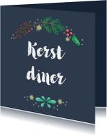 Kerstkaart - uitnodiging kerstdiner - SK