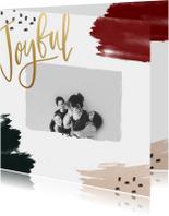Kerstkaarten - Kerstkaart verf joyful