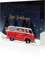 Zakelijke kerstkaarten - Kerstkaart Volkswagenbusje av