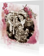 Kerstkaarten - Kerstkaart watercolors met eigen foto 2019