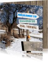 Kerstkaarten - Kerstkaart winters park RB