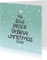 Zakelijke kerstkaarten - Kerstkaarten - Joy