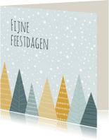 Kerstkaarten - Kerstkaartje bomen - HB