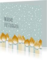 Kerstkaarten - Kerstkaartje kaarsjes - HB