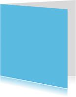 Blanco kaarten - Kies je kleur blauw vierkante kaart