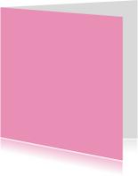 Blanco kaarten - Kies je kleur roze vierkante kaart dubbel