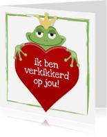 Valentijnskaarten - kikker - ik ben verkikkerd op jou
