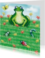 Kinderkaarten - Kikker in het gras