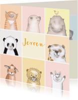 Kinderkaarten - Kinder - kleine diertjes