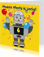 Uitnodigingen - Kinderfeest Robot uitnodiging